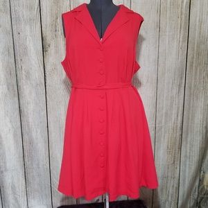 ModCloth Red Button Up Dress size 3x